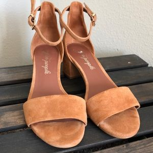 Free People suede sandals
